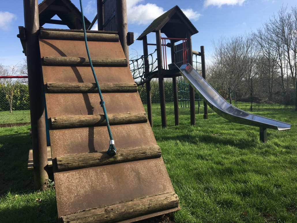 Photo of steps to climbing frame