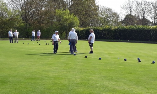 Photo of Bildeston Bowls club players