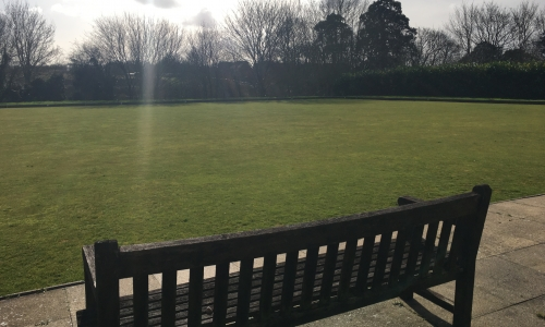 Bildeston bowls green photo