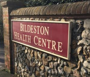 Image of Bildeston Helath Centre sign