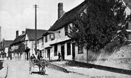 historic photo of Bildeston High Street