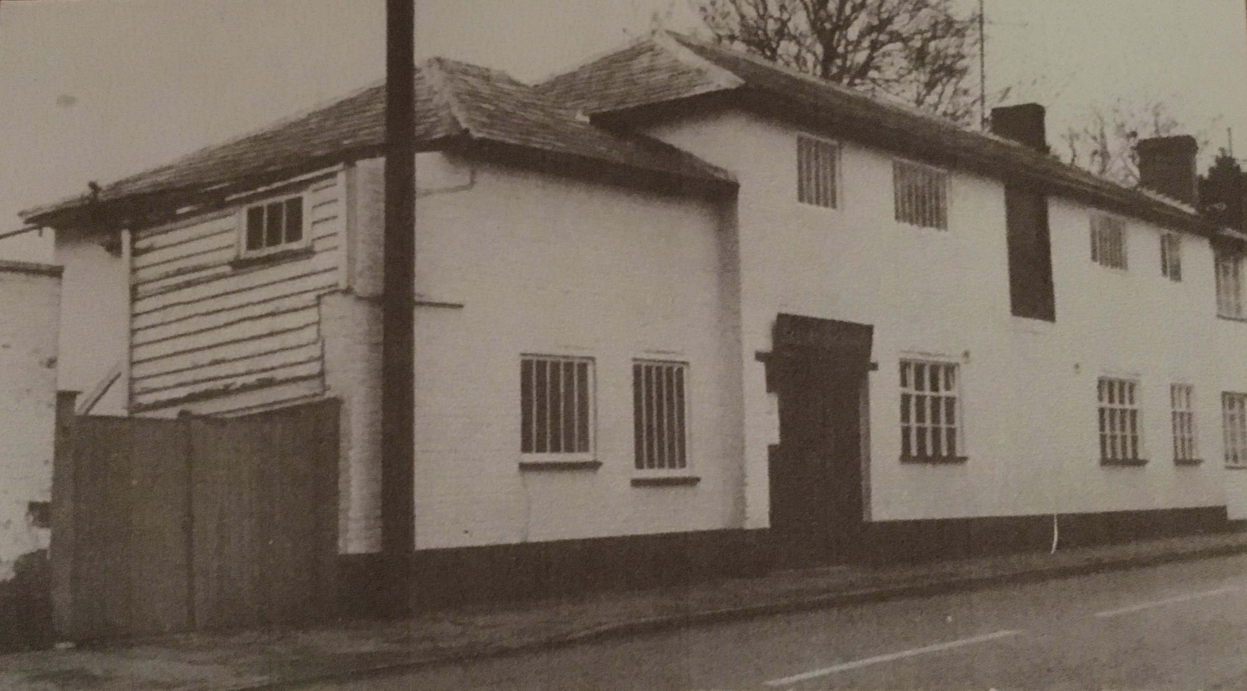 Photograph of former matting factory in High Street, taken in 1988